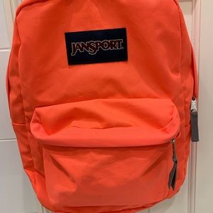 Neon orange/pink backpack